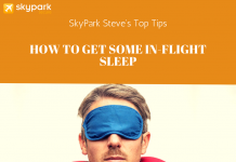 in-flight sleep