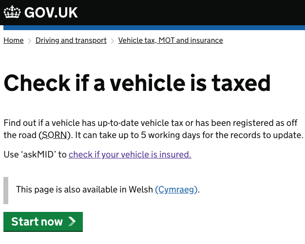 Is My Car Taxed How To Check Car Tax In 5 Steps Or Less